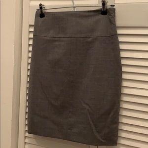 Grey virgin wool skirt